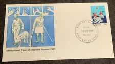 1981 International Year Of Disabled Persons Australian Apo Fdc Eltham Vic