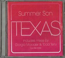 """TEXAS - 5"""" CD - Summer Son (Giorgio Moroder & Todd Terry Mixes) + Poster Mercury"""