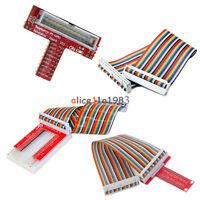 Raspberry Pi Pi2 B+ T/U GPIO Extension Board +40Pin Rainbow Cable (+Breadboard)