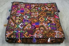 """35"""" Indian Vintage Patchwork Large Floor Cushion Pillow Cover Square Pet Dog Bed"""