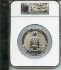 2010 5oz Silver ( ATB Quarter ) Hot Springs Gem Uncirculated Early Release