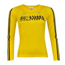 Adidas Womens Yellow Long Sleeve SRC SweatShop Running Top Tee [456306] UK 18