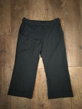 NEXT Grey Cropped Trousers Size 10R Office Work