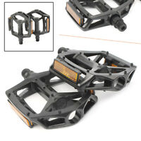 "Bike Pedals Platform Wellgo B087 Cr-Mo Spindle 9/16"" DU Sealed Bearings 1 Pair"