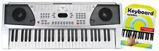 Digital Keyboard 54-Tasten E-Piano 100 Sounds & Rhythmen Set Schule silber