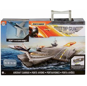 Matchbox Top Gun Maverick Aircraft Carrier New In Box Comes With Boeing Plane