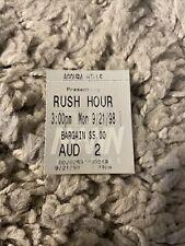 Rush Hour Original Movie Ticket Stub Mann Agoura Hills 1998
