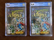 Superman Action Comics #684 (2 Copies) CGC 9.4 & 8.0 White Doomsday app.