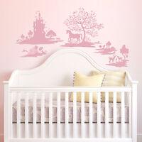 Pink Fable Wall Decals DwellStudio Baby Nursery Stickers Princess Castle Decor