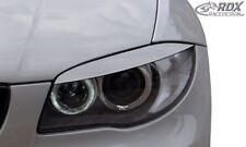 RDX Scheinwerferblenden schwarz matt für BMW 1er E81 / E82 / E87 / E88