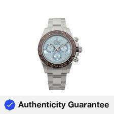 Rolex Cosmograph Daytona Platino Diamante Azul Dial Automático Reloj para hombres 116506IB