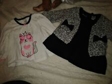 Baby girl infant dress sweater set long sleeve shirt 12 months