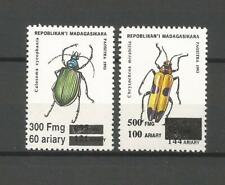 MADAGASCAR  MADAGASKAR MALAGASY  surcharge overprint INSECT INSECTE