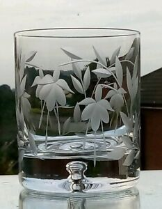 Elegant Hand Cut  Cascade Design 10 oz Whisky /Tumbler Glasses(All Dull Cutting)