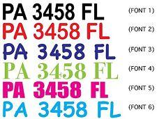 CUSTOM Boat Jet Ski Waverunner Registration Number Decal Sticker *SET OF 2*