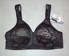 Playtex: 18 HOUR: Size: 16 C. Fittingly Fabulous WireFree Stylish Black Lace Bra