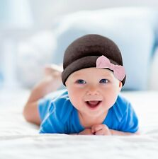 Cute Newborn Hats With Bow   Warm Baby Hats   Infant Hat With Bow