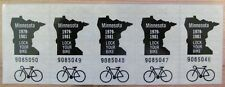 5 Minnesota 1979-1981 BICYCLE STICKERS # 9085046 thru # 9085050