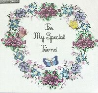 Sandi Phipps My Special Friend Counted Cross Stitch Kit  #354 Flowers Heart NWT