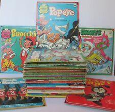 LARGE LOT OF 39 PETER PAN DISNEYLAND CHILDREN'S 45 RPM RECORDS, Vintage