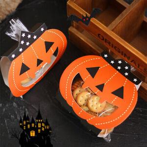 24Pcs Halloween Pumkin Santa Paper Bags Christmas Candy Sweet Favour Boxes Gift