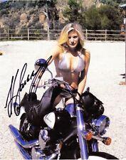 Katee Sackhoff signed 8x10 color photo on motorcycle-Longmire,Battlestar