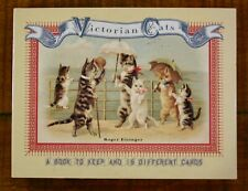 Victorian Cats collectible Book & 15 Postcards in sleeve