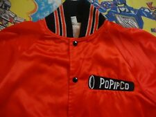 Vintage Popico Orange punk rock hipster 80's party grunge JACKET Adult Size L