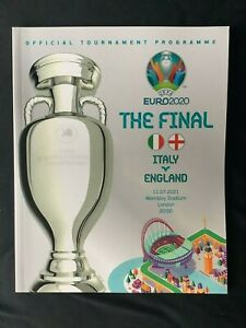 England v Italy Official Euro 2020 Final Programme UEFA July 2021 Brand New
