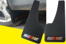 2x UNIVERSAL RALLIART 3D CARBON FIBER CAR MUDFLAPS MUD GUARD MUDGUARDS FENDER