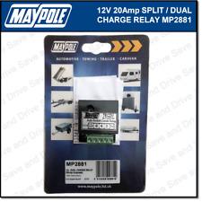 Maypole 12V 20Amp Dual Charge Split Relay Towing Trailer Caravan Towbar MP2881