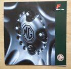 MG MGF orig 1995 UK Mkt Price List Brochure - 1.8i VVC