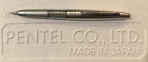 Pentel 5 Sharp Kerry   P1035 0.5mm   Silver   New Mechanical Pencil w/ Cap