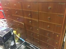 Store Fixture  Mid Century Modern Draws Organizer Filing Cabinet Wood Furniture