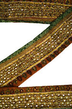 Embroidered Antique Indian Border, Sari Trim, By 1 Yd Decorative Ribbon,  ST1643