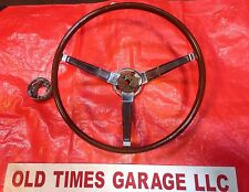 1966 1967 MOPAR WOODGRAIN STEERING WHEEL Dodge Charger Dart Coronet R/T 3 Spoke