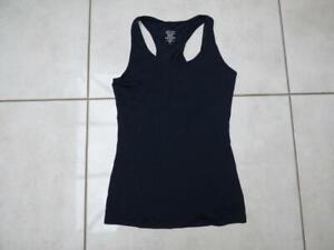 Sweaty Betty plain black vest top. Size Small UK 8-10