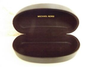 Michael Kors Dark Brown Hard Clamshell Eye/Sun Glass Case
