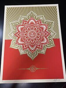 Shepherd Fairey Mandala Print 2013. Signed AP