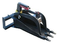 Extreme Stump Bucket Grapple With Teeth Skid Steer Attachment Free Shipping