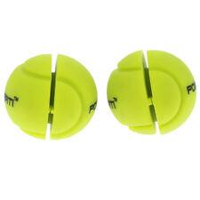 2Pcs Ball Shape Tennis Squash Racquet Vibration Shock Absorber Damper Yellow