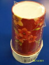 Classic Floral Red Flower Party 9 oz. Paper Cups