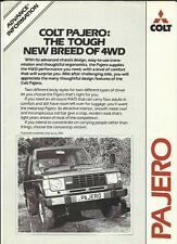 COLT PAJERO ADVANCED 4WD TRUCK VAN INTRODUCTORY SALES BROCHURE 1982 1983