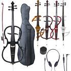 Cecilio Ebony Electric Silent Cello 4/4 Full Size