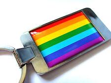 RAINBOW FLAG LGBT MOVEMENT GAY PRIDE FLAG KEYFOB KEYRING BOTTLE OPENER GIFT