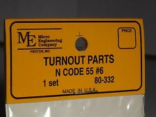 Micro- Engineering #80-332 N Scale Turnout Parts 1 Set Code 55 Bigdiscounttrains