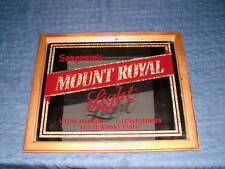 VINTAGE 1970S SEAGRAMS MOUNT ROYAL WHISKY MIRROR SIGN