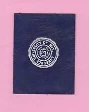 c1910s tobacco leather Lawrence University Of Wis. gilted college seal Nice!