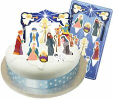 Christmas Nativity Cake Topper Kit BABY JESUS xmas cupcakes decorations star