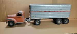 Vintage Smith Miller Mack PIE Tractor & Trailer Semi 1950s Project Or Parts